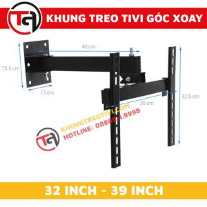 Khung Treo Tivi Góc Xoay Tâm Việt Từ 32 Inch Đến 39 Inch X32-1