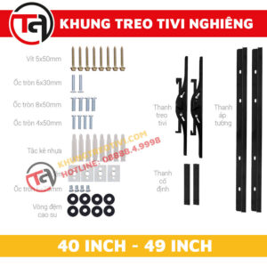 Khung Treo Tivi Nghiêng Tâm Việt Từ 40 Inch Đến 49 Inch N42 -4