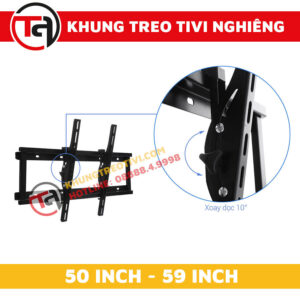 Khung Treo Tivi Nghiêng Tâm Việt Từ 50 Inch Đến 59 Inch N55-2