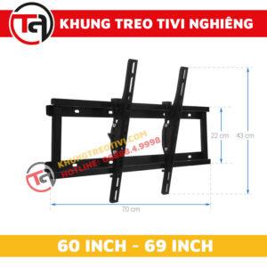 Khung Treo Tivi Nghiêng Tâm Việt Từ 60 Inch Đến 69 Inch N65-1