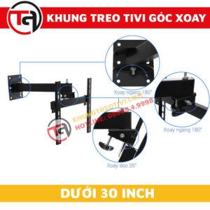 Khung Treo Tivi Góc Xoay Tâm Việt Dưới 30 Inch X26-2