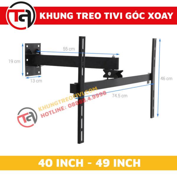 Khung Treo Tivi Góc Xoay Tâm Việt Từ 40 Inch Đến 49 Inch X42-1
