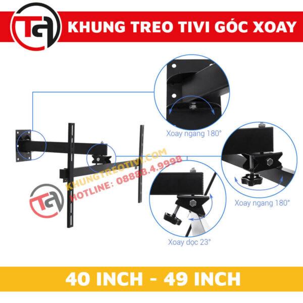 Khung Treo Tivi Góc Xoay Tâm Việt Từ 40 Inch Đến 49 Inch X42-2