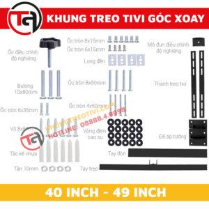 Khung Treo Tivi Góc Xoay Tâm Việt Từ 40 Inch Đến 49 Inch X42-3