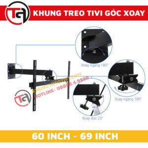 Khung Treo Tivi Góc Xoay Tâm Việt Từ 60 Inch Đến 69 Inch X65-2