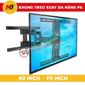 Khung Treo Tivi Nhập Khẩu Xoay Đa Năng NB-P6-2